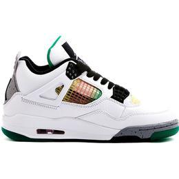 Nike Air Jordan 4 Retro W - White/University Red/Lucid Green/Black