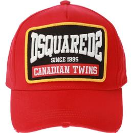 DSquared2 Patch Embroidered Baseball Cap - Red