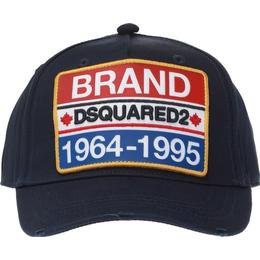DSquared2 Brand Patch Embroidered Baseball Cap - Dark Blue