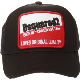 DSquared2 Patch Embroidered Baseball Cap - Black