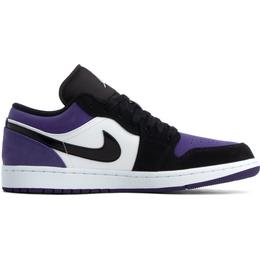 Nike Air Jordan 1 Low M - White/Black-Court Purple