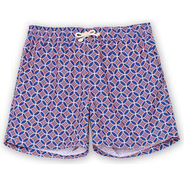 Ripa Ripa Levante Printed Swim Shorts - Red/Blue