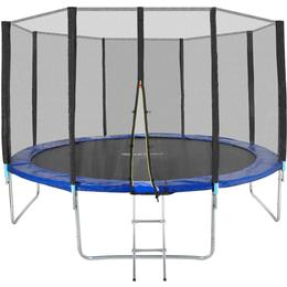 tectake Garfunky Trampoline 366cm + Safety Net + Ladder