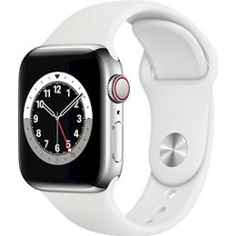Apple Watch Series 6 Cellular 40mm Stainless Steel Case with Sport Band