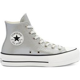 Converse Chuck Taylor All Star Metallic Classics Platform High Top - Silver/Egret/Black