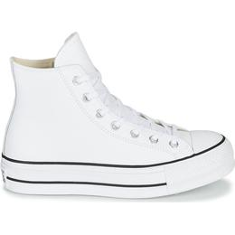 Converse Chuck Taylor All Star Clean Leather Platform - White/Black