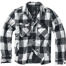 Brandit Lumber Jacket - White/Black