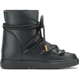 INUIKII Sneaker Full Leather Wedge - Black