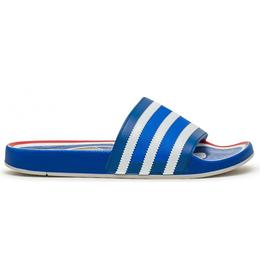 Adidas Adilette Premium - Blue/Cloud White/Hi-Res Red