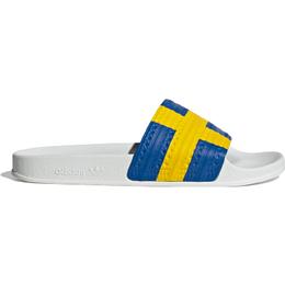 Adidas Adilette - Cloud White/Yellow/Blue