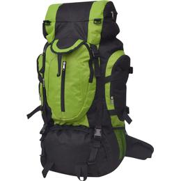 vidaXL Hiking Backpack XXL - Black/Green
