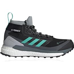 Adidas Terrex Free Hiker GTX Hiking W - Core Black/Acid Mint/Hi-Res Yellow