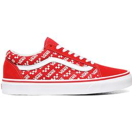 Vans Logo Repeat Old Skool - Racing Red/True White