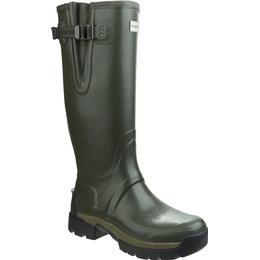 Hunter Balmoral II Side Adjustable 3mm Neoprene Wellington Boots - Dark Olive