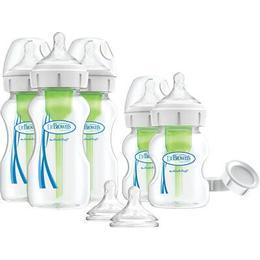 Dr. Brown's Options Wide-Neck Startkit Nappflaska för Nyfödda