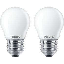 Philips 7.8cm LED Lamps 2.2W E27 2-pack