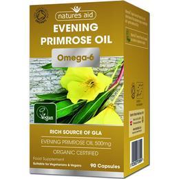 Natures Aid Organic Evening Primrose Oil 500mg 90 st