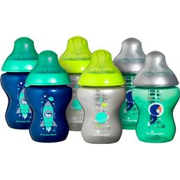 Tommee Tippee Closer to Nature Decorated Baby Bottles 260ml 6 pack