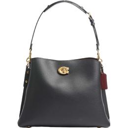 Coach Willow Shoulder Bag - Brass/Black