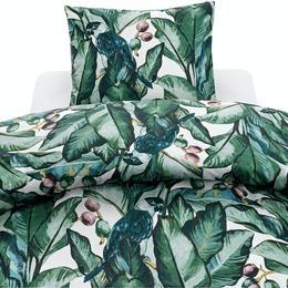 Borganäs Jungle Leaves Påslakan Grön (210x150cm)