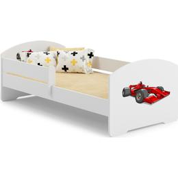 Kobi Brain Car Cot with Mattress & Protective Edge 80x160cm