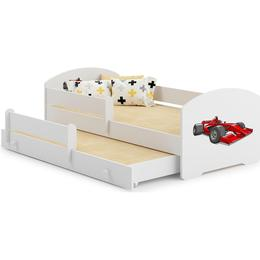 Kobi Marylynn Car Motif Cot with Mattress with Protective Edge and Extra Bed 70x140cm