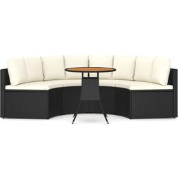 vidaXL 3064904 Loungegrupp, 1 Bord inkl. 4 Soffor