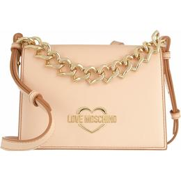 Love Moschino Chain Heart Shoulder Bag - Nude
