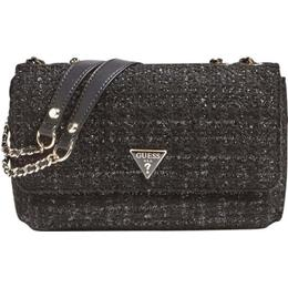 Guess Cessily Tweed Crossbody - Black