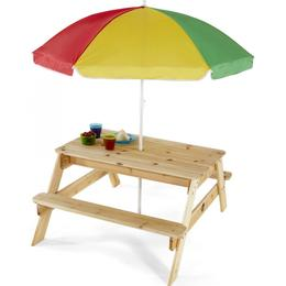Plum Picnic Table with Parasol Bänkbord