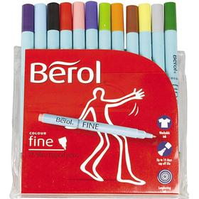 Berol Twisted Fine Fibre Tipped Pen 0.6mm 12-pack