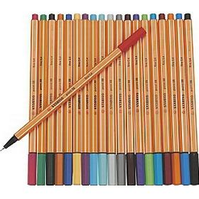 Stabilo Fineliner 88 Point Color Pens 20-pack