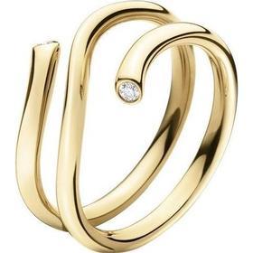 Georg Jensen Magic Yellow Gold Ring w. Transparent Diamond (3569740)