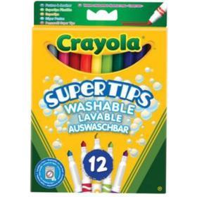 Crayola Super Tips Washable Lavable Auswaschbar 12-pack
