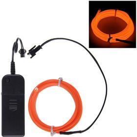 El Wire Batteridriven LED Slinga - Orange