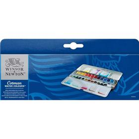 Winsor & Newton Cotman Water Colours Metal Sketchers Box 24 Half Pans