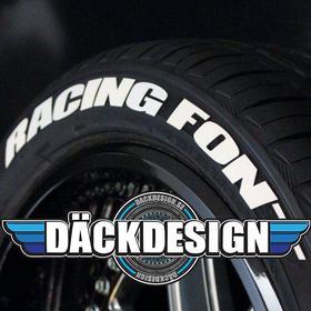 "Däcktext 0,75"" Racing Font - styckvis"
