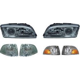 Klarglasstrålkastare, styling, KROM. Inkl klarglasblinkers Volvo S70 / V70 / C70