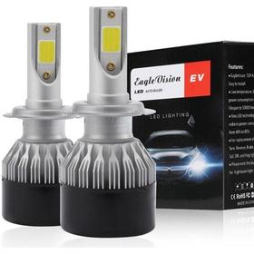 Led konvertering strålkastare 2-Pack Lampa H7 18W 2000LM 6000K Xenon