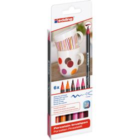 Edding 4200 Porcelain Brush Pen Warm 6-set