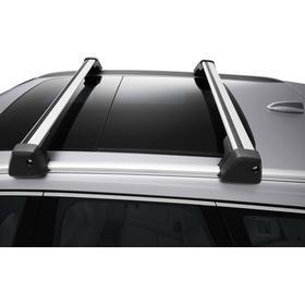 Volvo Original Lasthållare, vingprofil för integrerade rails Svart med aluminiumprofil