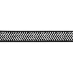 Dekorband 23 mm reflex svart