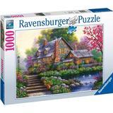 Pussel Ravensburger Romantic Cottage 1000 Pieces
