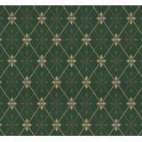 Lim & Handtryck Skogshyddan - Green/Gold (x111-54)