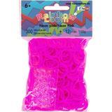 Pyssellådor Loom Bands Rainbow Neon Pink