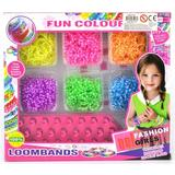 Pyssellådor Loom Bands Fun Colour 1200 delar