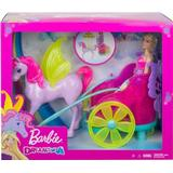Barbie Dreamtopia Princess with Fantasy Horse and Chariot