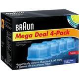 Rengöring för rakapparater Braun Clean & Renew CCR4 4-pack