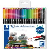 Markers Staedtler 3187 Double Ended Permanent Pen 36-pack