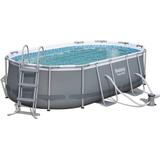 Pooler Bestway Power Steel Oval Pool 4.24x2.5x1m
